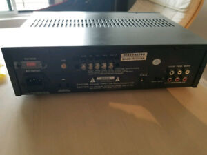 Amplifier with microphone inputs 80w total output power