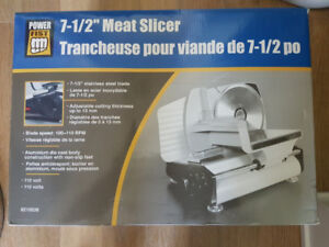 *** PowerFist 7-1/2 in. Electric Meat Slicer ***