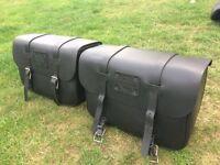 Harley Davidson Sportster 'Express Rider' Leather Panier Side Bag Set