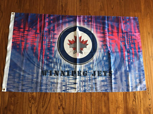 Man cave, Woman cave , WPG Jets Flag, 3' x5' , B.new sealed