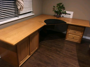 Large oak desk