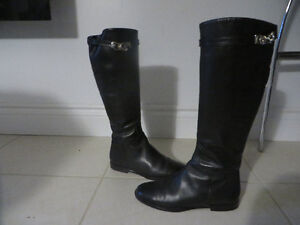 "New Italian  ""MILANO""  leather dressy boots, size 7"