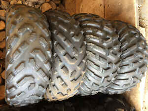 4 Dunlop used ATV tires 25-8-12's and 25-10-12's
