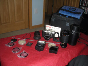 PENTAX-MZ-M and all lens and attachments