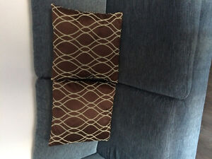 Two Brown & Sage Green Pillows