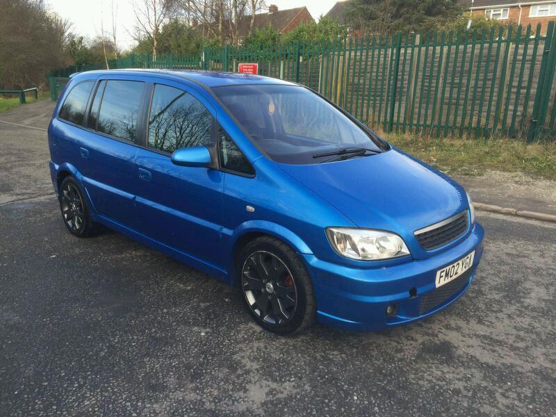 2002 Vauxhall Zafira 20i Gsi Turbo Arden Blue 7 Seats