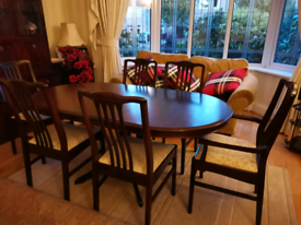 Stag Dining room table & chairs
