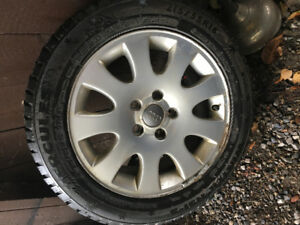 215/55/16 studded winters with rims