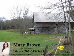 Barn and level land with Crowe River Frontage