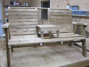 Outdoor Furniture - Double Chair with Table