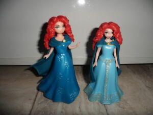 2 petites poupées Rebelle avec robes Magic Clip