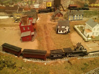 N Scale Model Railroad Layout and Accessories.