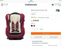Mothercare Car Seat Un-used