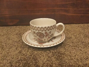 Johnson Brothers Staffordshire Old Granite cups & saucers
