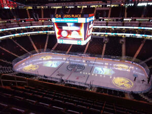 Edmonton Oilers Season Ticket Package Centre Ice Section 201