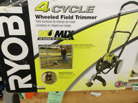 Brand new Ryobi 4 cycle wheeled field trimmer