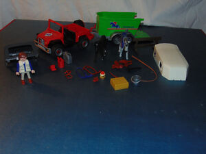 Playmobil Jeep and horse carrier
