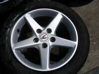 four acura 5 bolt x 114.3 pattern  16  in alloy wheels