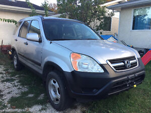 02 CRV Lx 5dpeed Safetied Clean Title Low kms