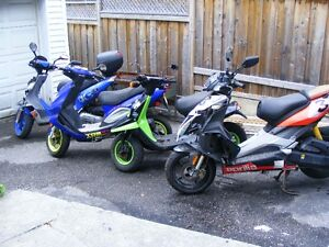 4 scooters