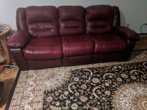 Leather Sofa, Loveseat, Rocker for sale