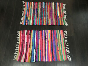 Two Cute Matching Woven Rugs FOR SALE!