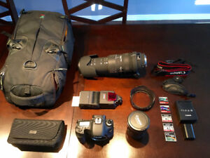 Canon 7D Full Set up with 2 Lenses, Bag & More!