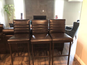 3 bar stools for sale-$100