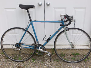 Vintage Blue Road Bike Ready To Go