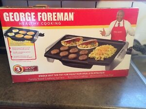 "For Sale -George Foreman - 10"" X 16"" electric grill - $20. OBO"
