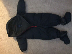 Baby snowsuit 9-12 months, excellent condition.