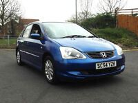 2005 FACE LIFT HONDA CIVIC 1.7 CTDi SE 5 DOOR DIESEL MANUAL BLUE PX SWAP SWOP