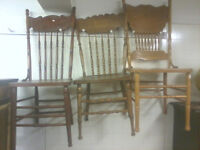 Hardwood SteamPressed Engraved Backed Chairs P744