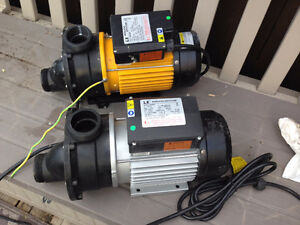 2 hot tub pumps with motors brand new!!