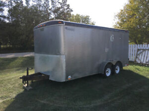16 by 7 enclosed trailer