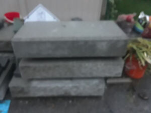 free  concrete stairs step.6 pc.size wide 19 ,long39 inch.high 8