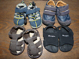 Infant boy shoes, boots and sandals. Various sizes available