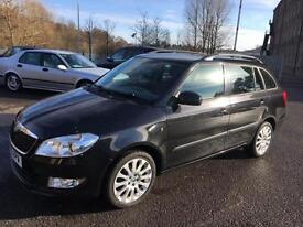 1010 Skoda Fabia 1.2 TSI ( 85bhp ) Elegance Black Estate MOT Dec 2017