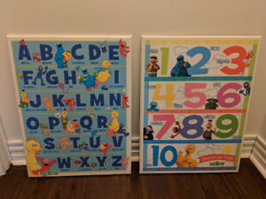 Sesame Street Mounted posters- set of 2
