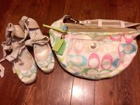 Coach Wedge Shoes and Matching Hobo Purse