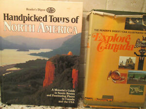 2 Hard Cover North America & CANADA Travel Books