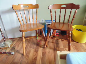 Wooden chairs- sturdy ones $15.00 each