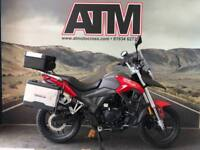 SINNIS TERRAIN 125cc MOTORBIKE, BRAND NEW, 0% FINANCE, 2YEAR WARRANTY