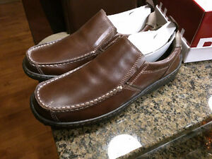 NEW Hush Puppies Belfast Slip-On Brown Leather 10M