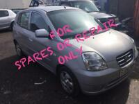 06 2006 Kia Picanto 1.1 SE+ **FOR SPARES OR REPAIR ONLY** SERVICE HISTORY