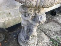 Beautiful stone Garden bird feeder