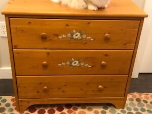 Pine Dresser with painted decoration