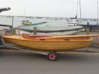 Porchester Duck, classic wooden sailing dinghy