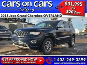 2015 Jeep Grand Cherokee OVERLAND w/Leather, PanoRoof, BackUp Ca