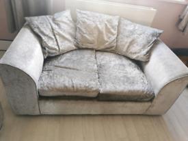 Small velvet sofa